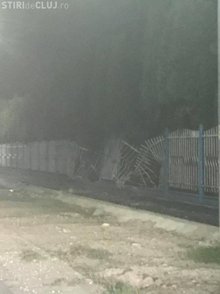 BMW distrus în Florești - FOTO