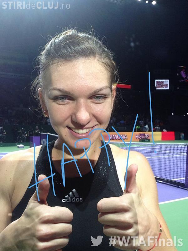 Victorie pentru Simona Halep, în primul meci de la Turneul Campioanelor! A învins-o categoric pe Caroline Garcia