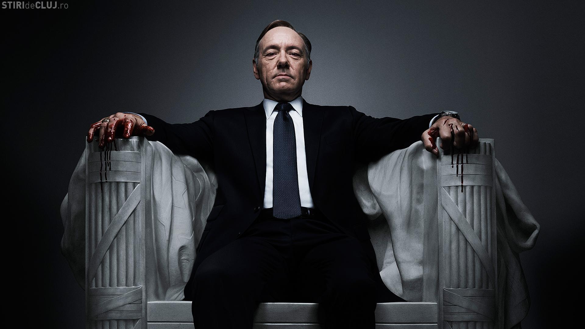 """Serialul """"House of Cards"""", anulat. Kevin Spacey e acuzat de avansuri sexuale făcute unui minor"""