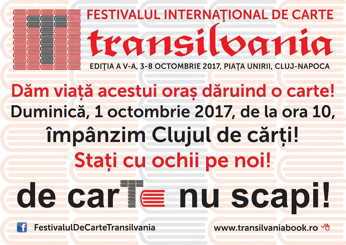 Clujul, împânzit de cărți, în acest weekend! 3.000 de pachete cu cărți vor fi răspândite prin oraș în deschiderea FICT