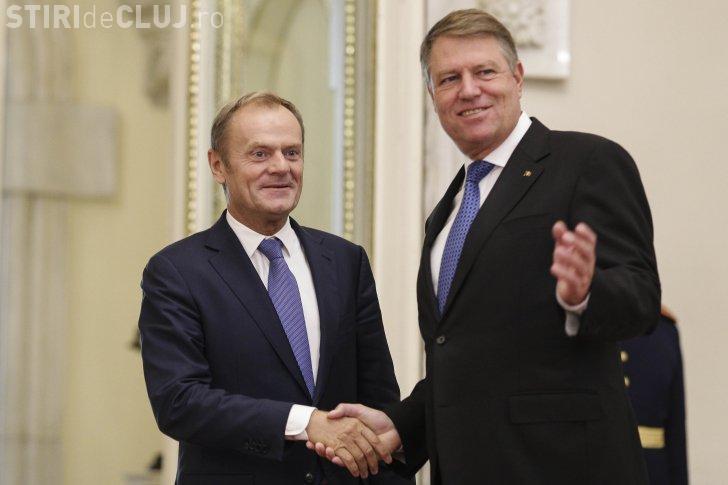 Șeful Consiliului European, Donald Tusk, în vizită la Palatul Cotroceni