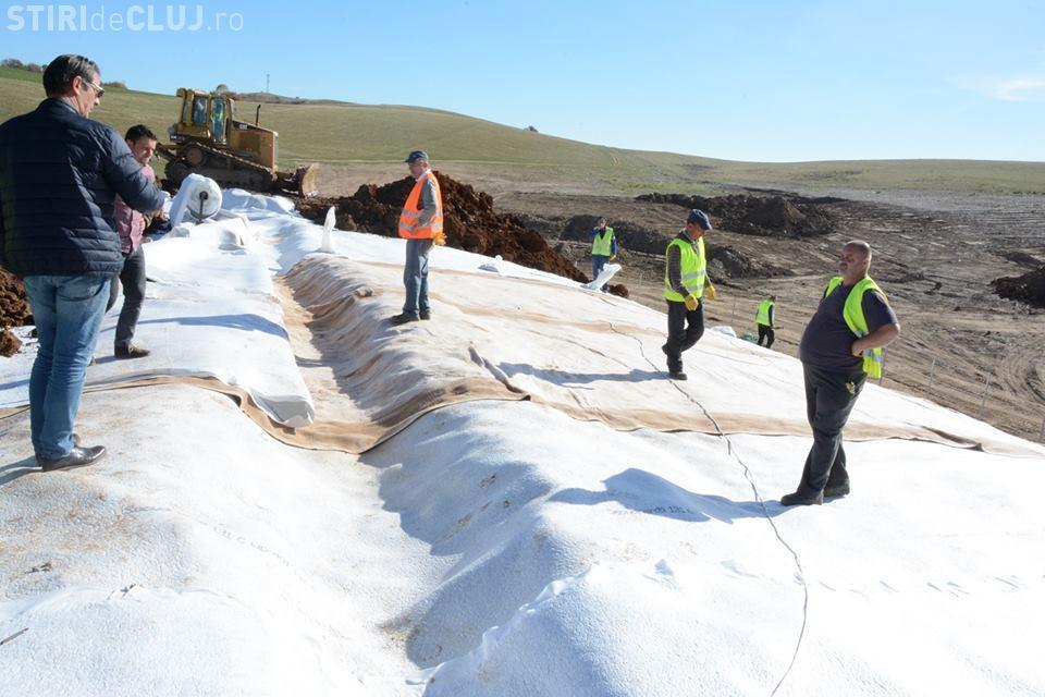 Ecologizarea depozitului neconform de la Huedin, aproape de finalizare FOTO