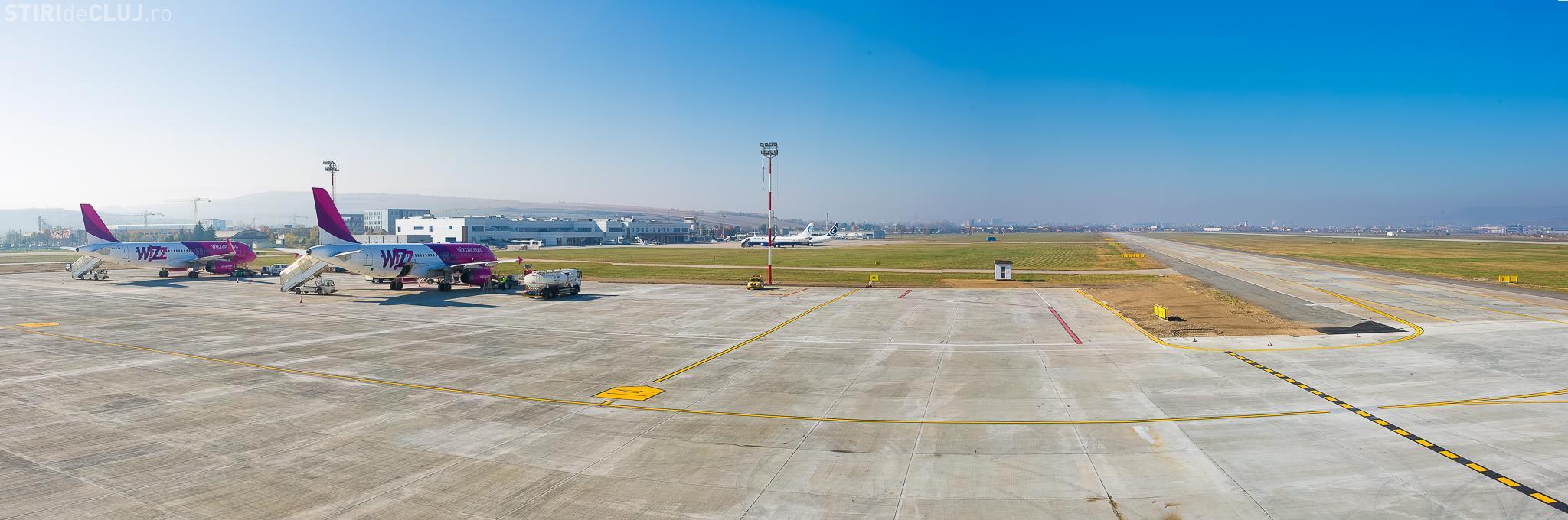 Aeroportul Cluj a inaugurat o nouă platformă de staționare a aeronavelor FOTO