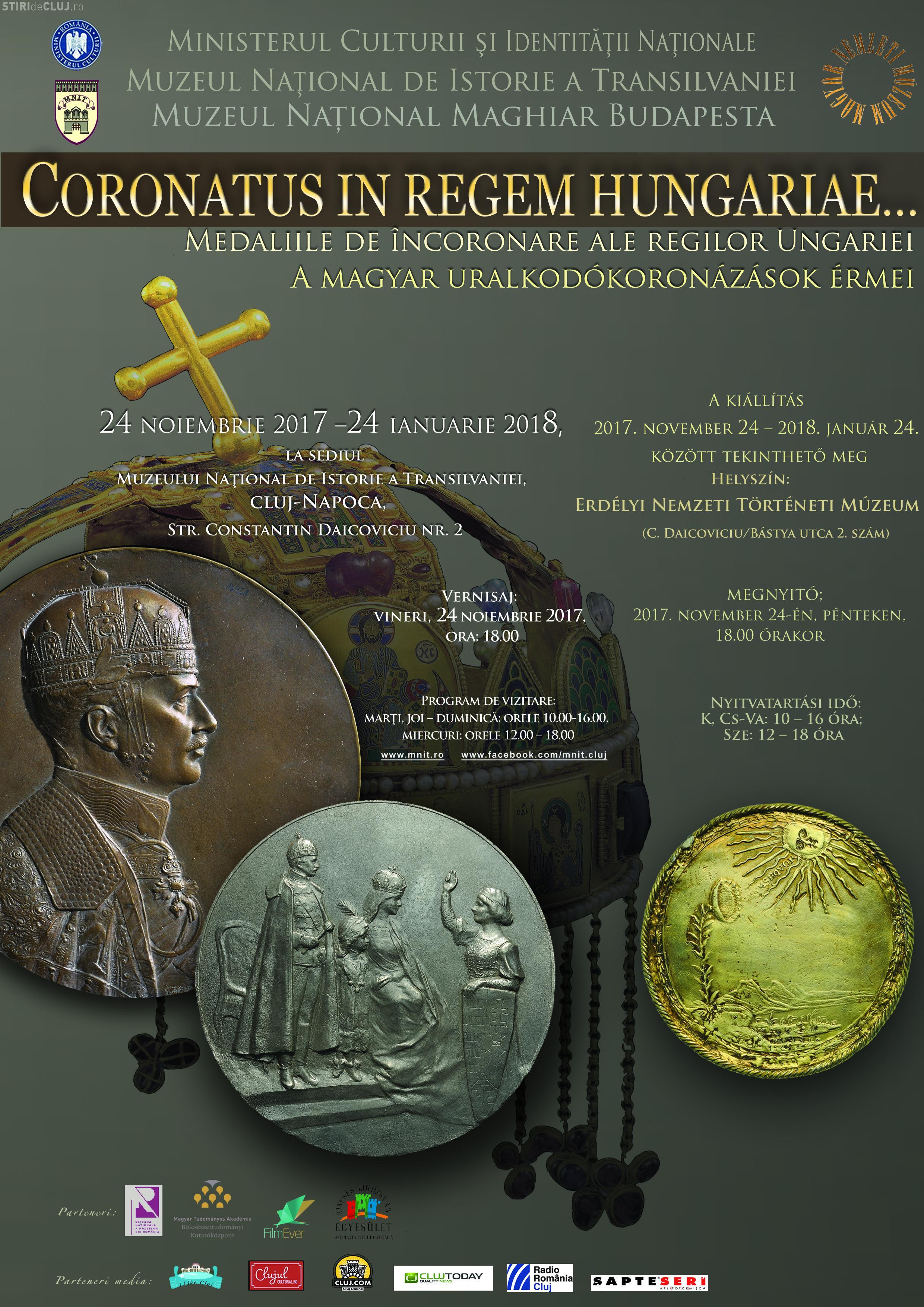 Cluj: Expoziţie dedicată medaliilor de încoronare ale regilor Ungariei
