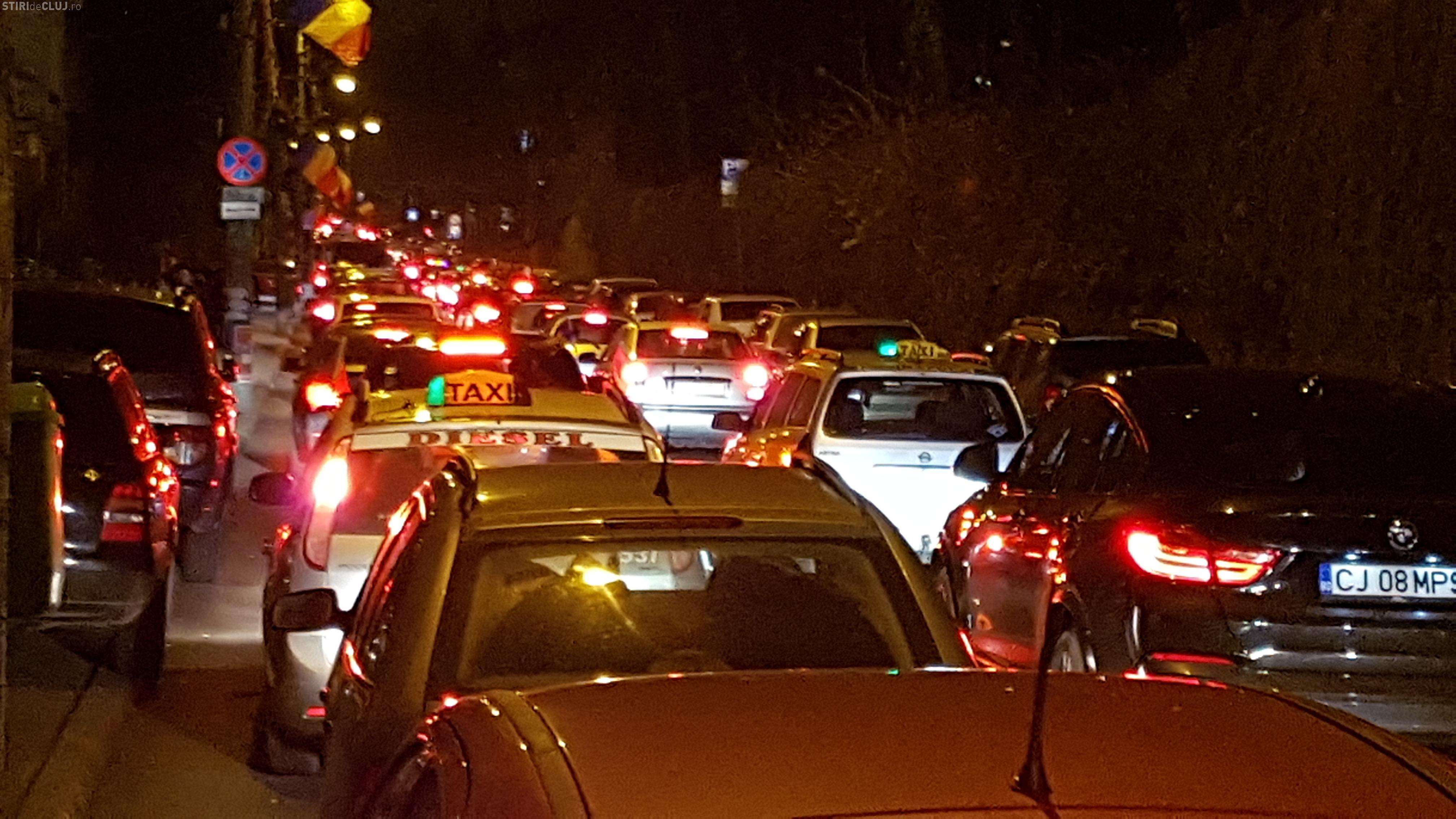 Cluj-Napoca: Cum mi-am petrecut seara de 1 Decembrie, în trafic pe strada Clinicilor - VIDEO