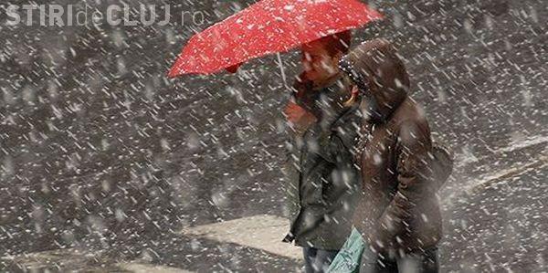 Vreme rece și ninsori la Cluj, la început de săptămână. Vezi ce anunță meteorologii