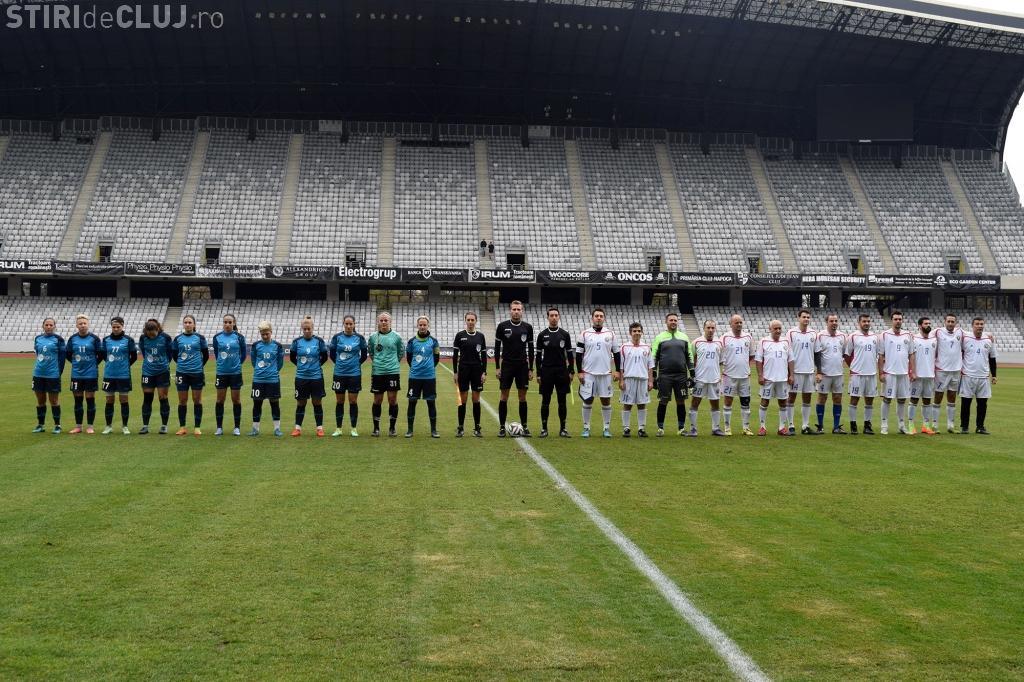 Cluj Arena: Meci de fotbal între naționala feminină de fotbal și o echipă de diplomați români și străini