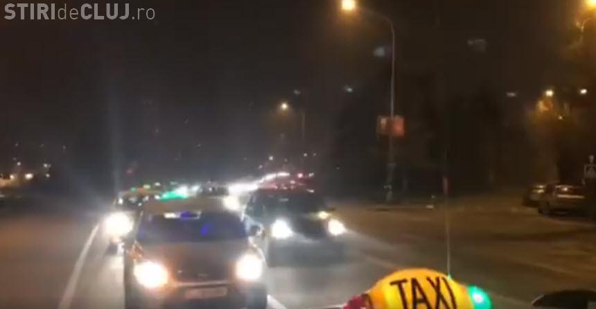 Protest anemic al taximetriștilor împotriva UBER - VIDEO