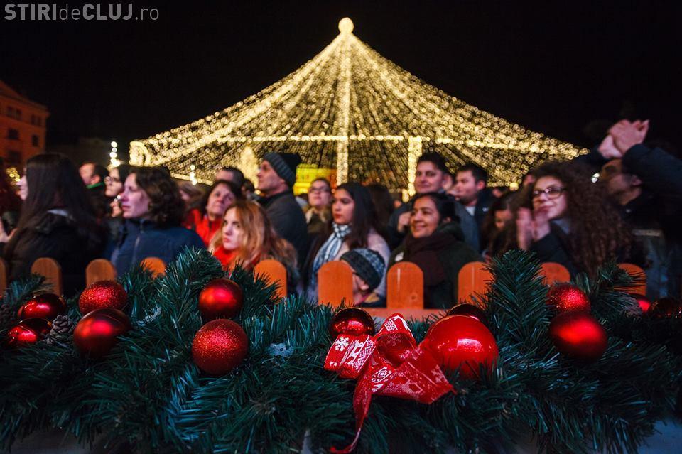50.000 de clujeni la pornirea iluminatului de Sărbători. Imagini UNICE - FOTO