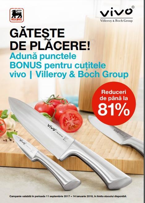 Gama de cuţite vivo - Villeroy & Boch Group, prezentă în toate magazinele Mega Image din Cluj-Napoca, cu discount-uri de până la 81% (P)