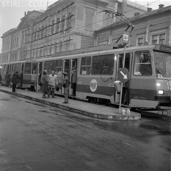 """Clujul din transportul în comun de altă dată! """"Pe Barițiu, a fost, cândva, o staţie de tramvai"""" - FOTO"""