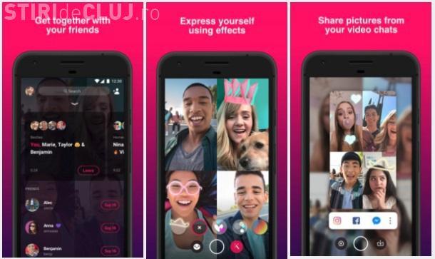 Facebook a lansat o nouă aplicație pentru apeluri video cu mai multe persoane simultan