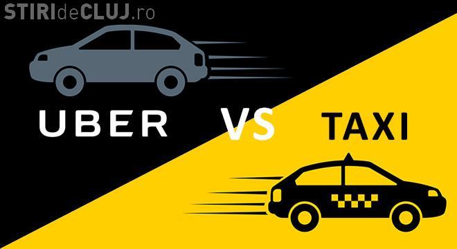 Taximetriștii din Cluj-Napoca au protestat împotriva Uber: Ei blochează traficul clujean