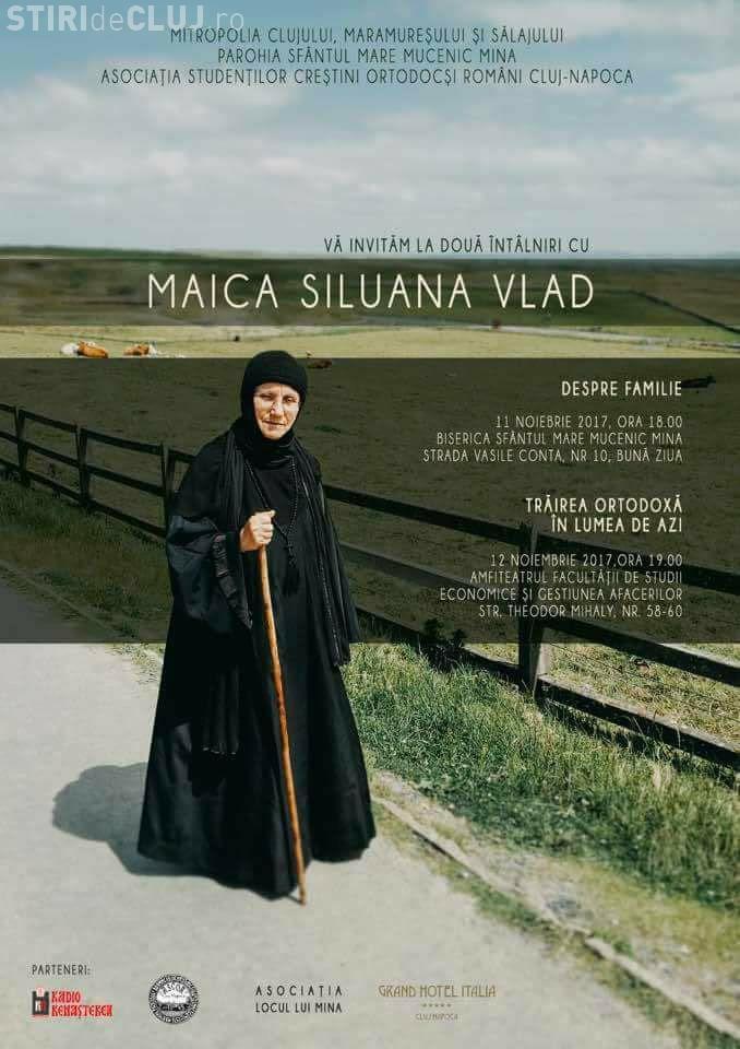 Maica Siluana Vlad vine la Cluj-Napoca, pentru o conferință despre familie