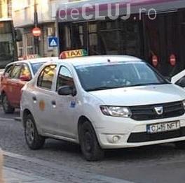 Cluj-Napoca: Autobuzul 30 i-a rupt ușa unui taximetru - FOTO