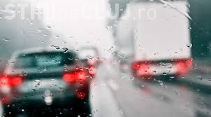 Recomandările polițiștilor pentru șoferii clujeni: Cum trebuie să circulați pe vreme rea!