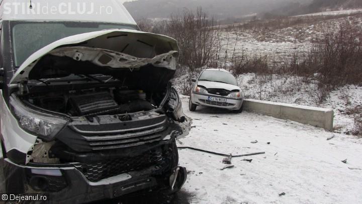 Cluj: Accident mortal după ce a derapat pe zăpadă - FOTO