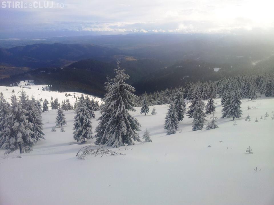 La Vlădeasa se poate schia - FOTO