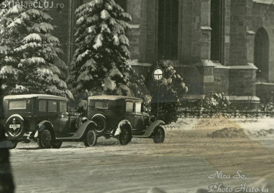 Piața Unirii, 1933, iarnă grea. Fotografie de epocă - FOTO