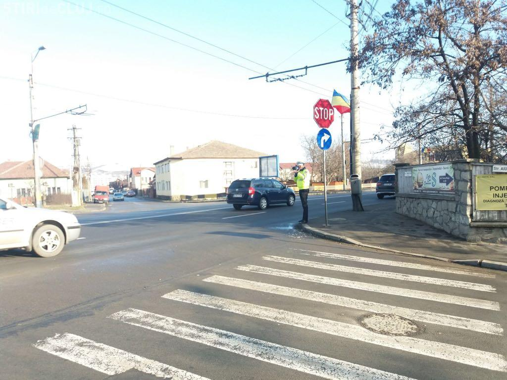Razie în trafic la Cluj-Napoca! Mai mulți șoferi au rămas fără permis, iar peste 20 de pietoni au fost amendați în doar câteva ore FOTO
