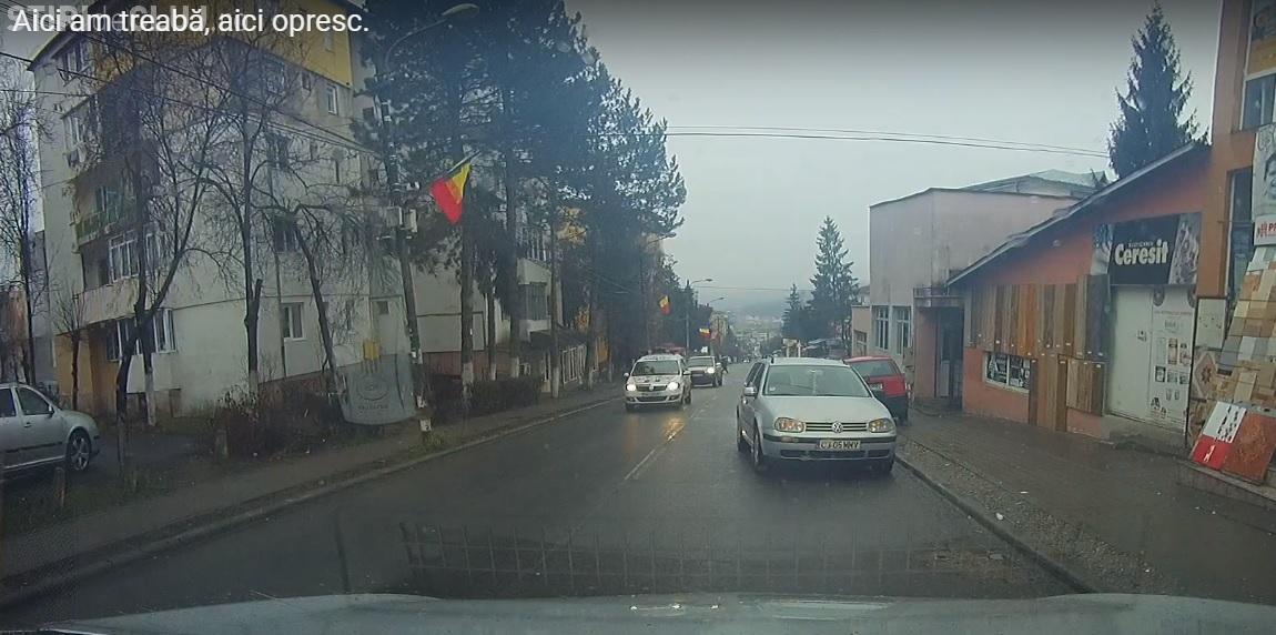 Șmecher de Cluj! Ce facem cu astfel de șoferi - VIDEO