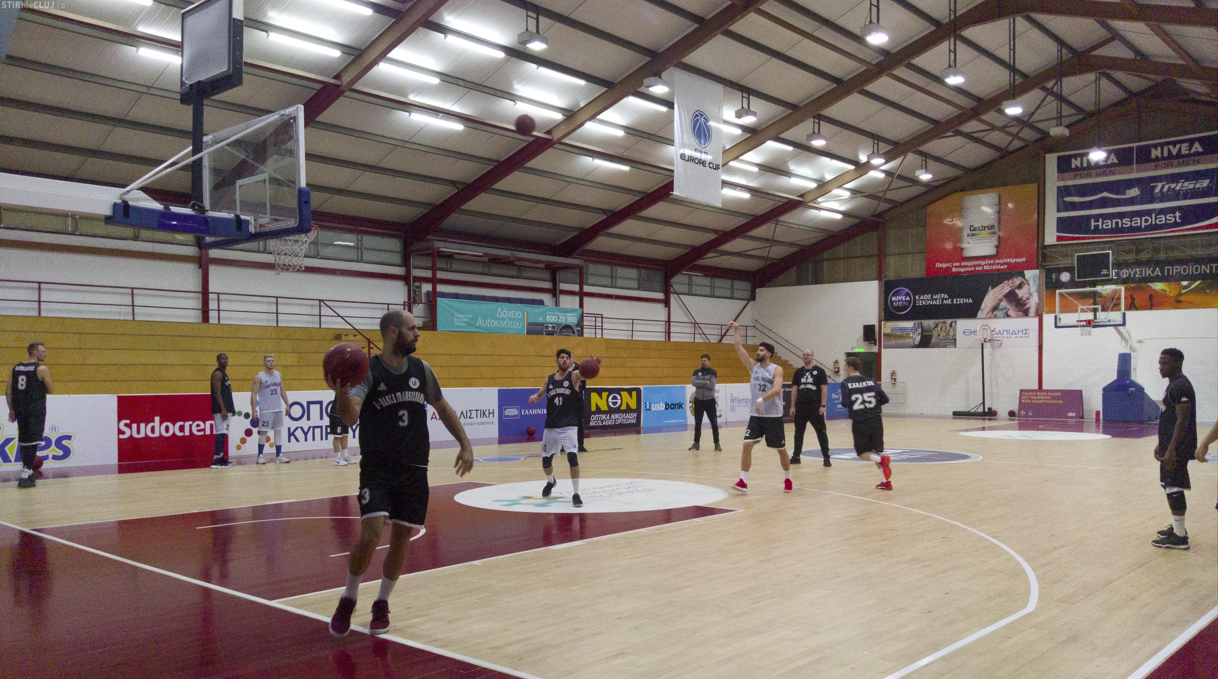 U-Banca Transilvania joacă cu Keravnos, în FIBA Europe Cup. Clujenii vin după o victorie