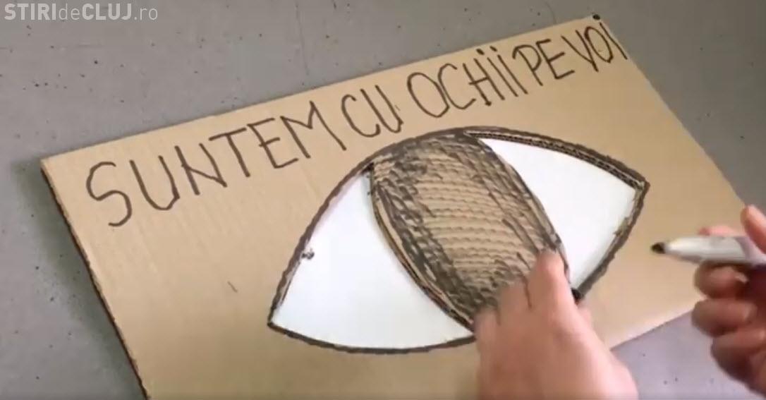 """Sâmbătă, 20 ianuarie, protest mare la Cluj: """"CU OCHII pe VOI""""! - VIDEO"""