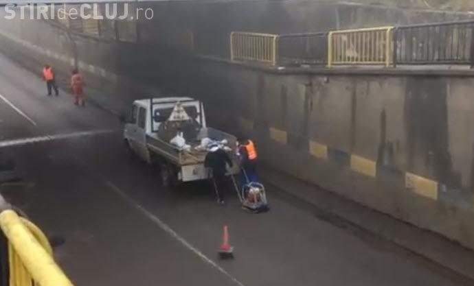 Cluj: Asfalt adus în plasă! In ce tara traim? - VIDEO