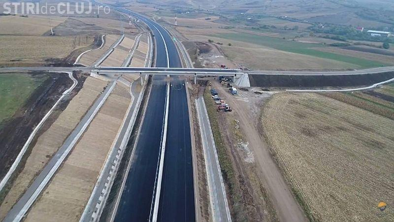 Deficiențe GRAVE găsite pe autostrada Sebeș - Turda: Apa băltește. Au montat plăcuțe SOS 112 în loc de telefoane