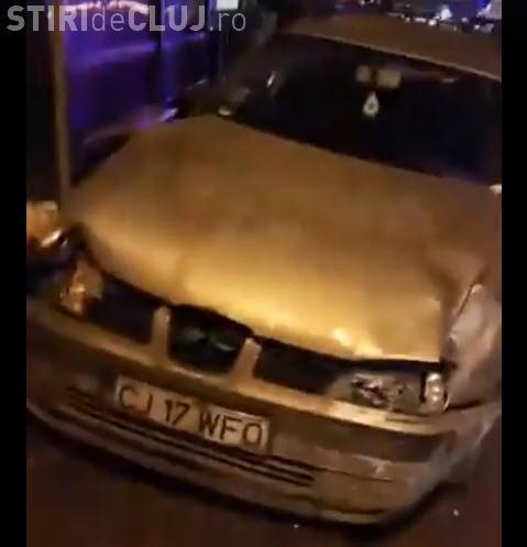 """Accident în Florești! A """"măturat"""" oamenii din stația de autobuz de pe Eroilor - VIDEO"""