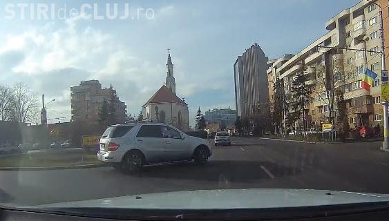 Cluj-Napoca: Cum se produc tamponările din prostie - VIDEO