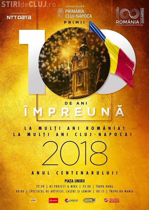 Revelion 2018 în Cluj-Napoca. Piața Unirii va fi locul petrecerii. Revelionul 2018 e primul eveniment din anul Centenarului