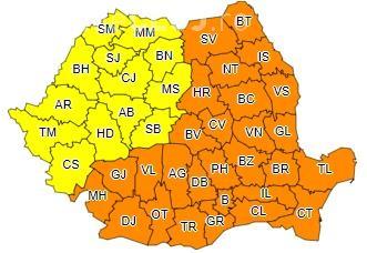 Valul de frig persistă în toată țara! România e sub cod galben și portocaliu de ger pentru încă trei zile