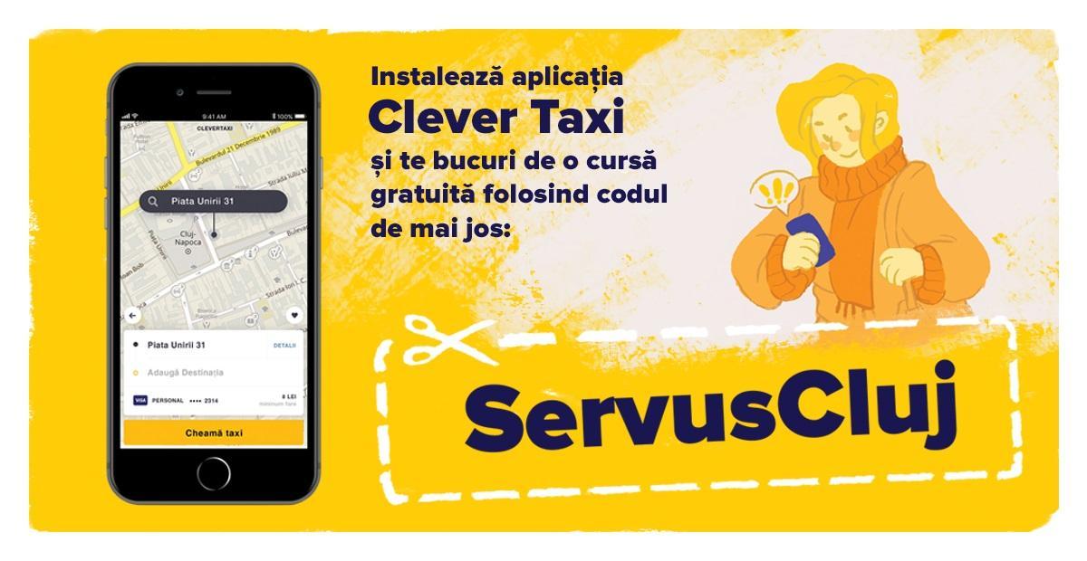 Clever Taxi face 5 ani și oferă tuturor clujenilor curse gratuite