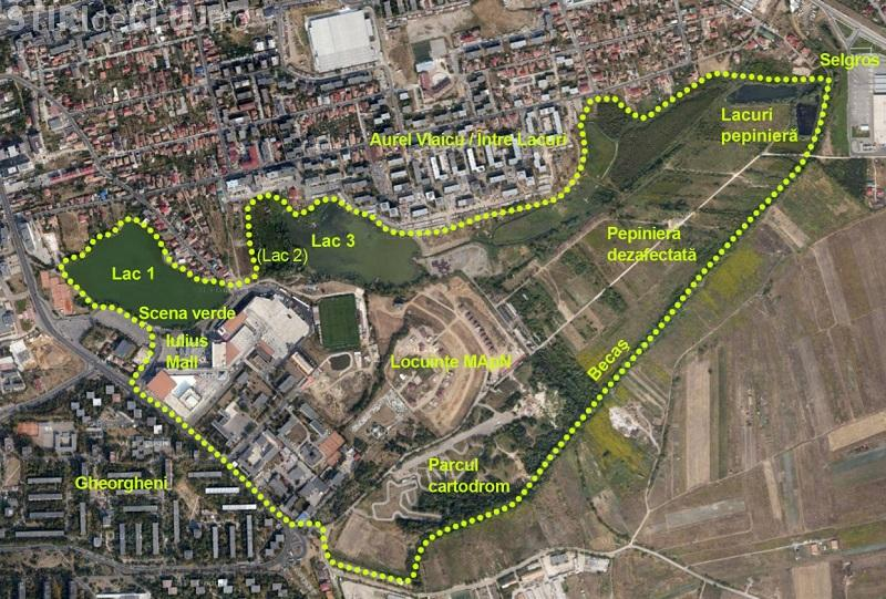 Boc susține că Parcul de Est (Gheorgheni) are sute de hectare: Aquapark -ul va ocupa numai 12 hectare