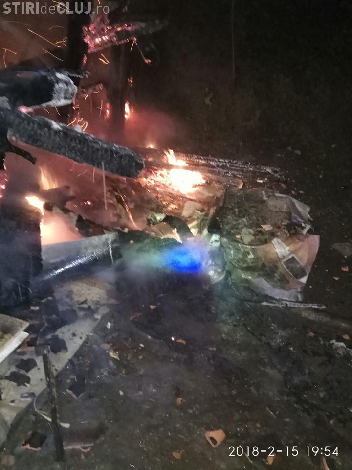Bărbat găsit carbonizat în propria locuință, la Cluj-Napoca. Și-a uitat țigara aprinsă FOTO