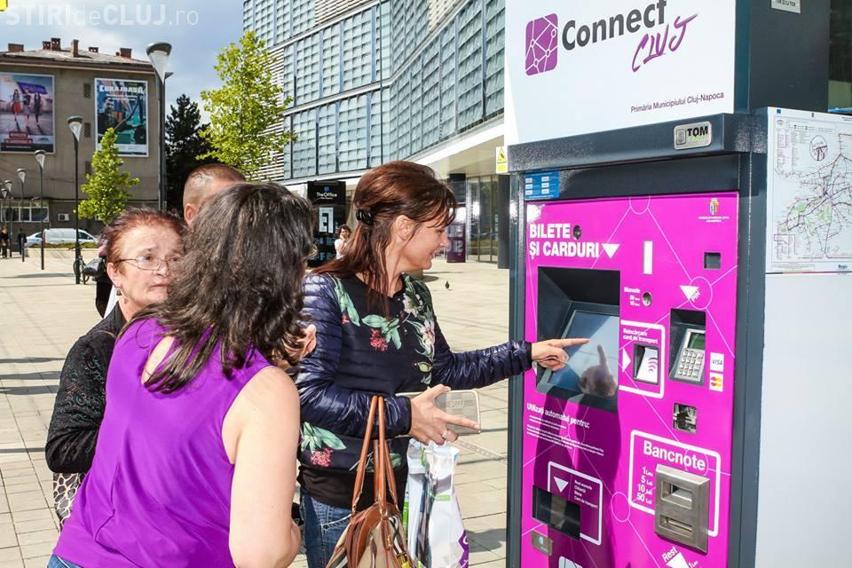 Mai multe automate de bilete din Cluj nu funcționează la plata cu cadrul. CTP Cluj spune că au fost vandalizate