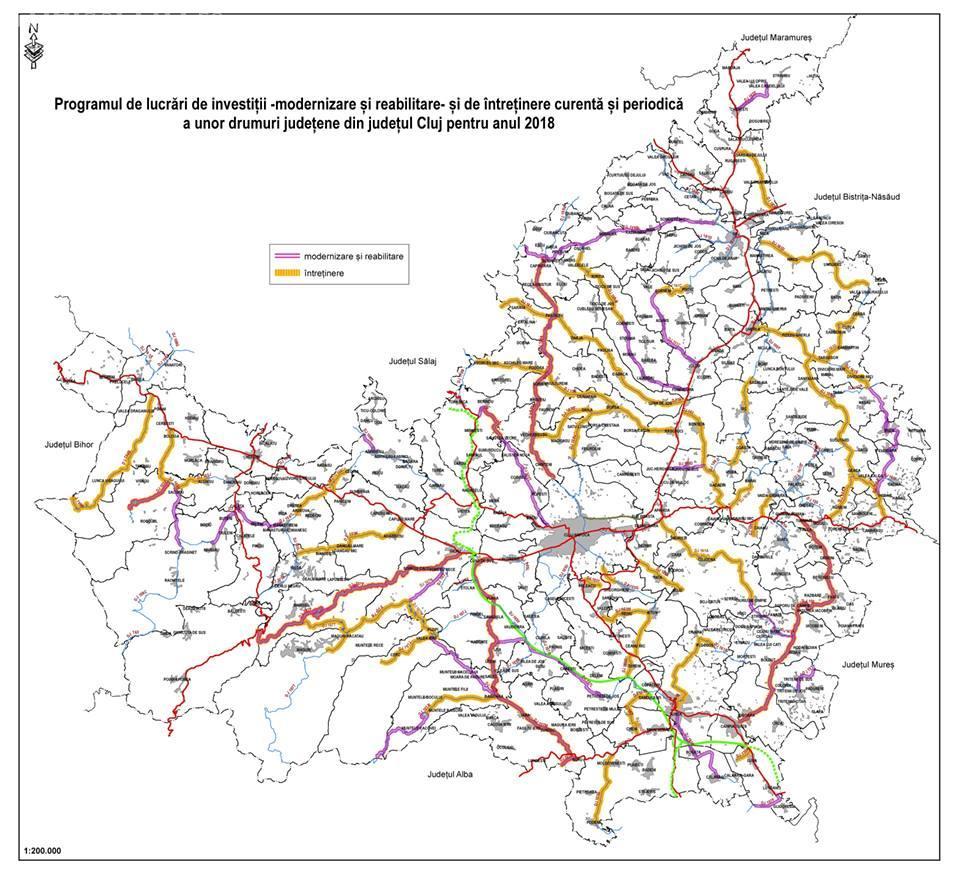 Harta Drumurilor Județene Care Urmează Să Fie Reabilitate In 2018