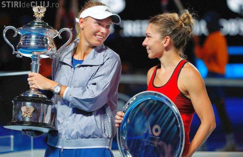 """Simona Halep a vorbit despre gestul făcut de Wozniacki: """"Eu nu voi face niciodată aşa ceva!"""""""