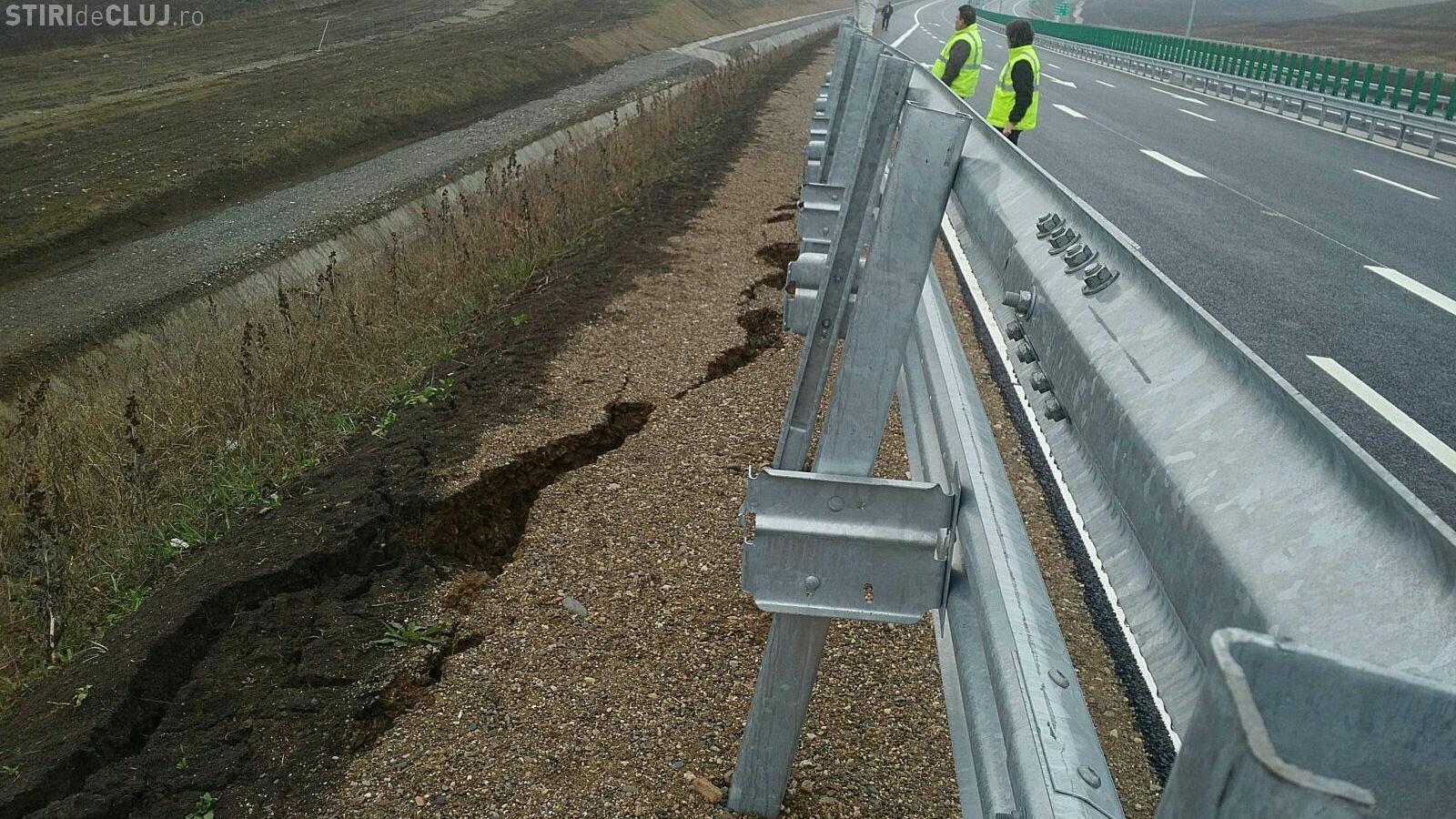 Autostrada Turda - Sebeș se crapă, înainte de inaugurare - FOTO