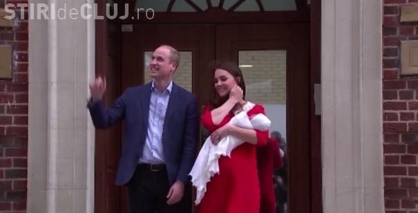 Primele imagini cu bebelușul regal al Marii Britanii, la doar câteva ore de la naștere VIDEO