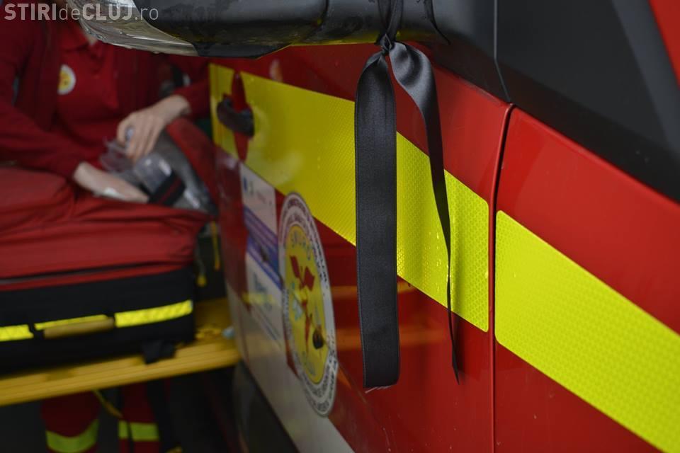 Personalul ISU Cluj va păstra un moment de reculegere pentru minorul mort în accident