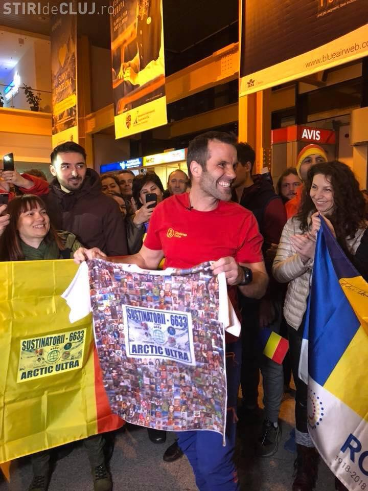 Tibi Ușeriu a ajuns la Cluj. Extrem de modest, campionul a spus că la anul va face o pauză - FOTO
