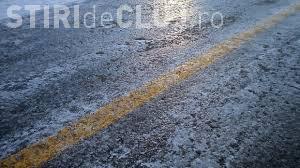ATENȚIE, șoferi! Cod galben de polei la Cluj