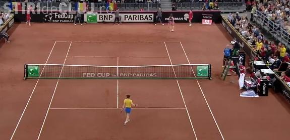 E OFICIAL! România s-a calificat în Grupa Mondială Fed Cup, după victoria lui Halep în fața veteranei Patty Schnyder