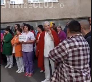 A treia zi de proteste la Institutul Inimii din Cluj - VIDEO