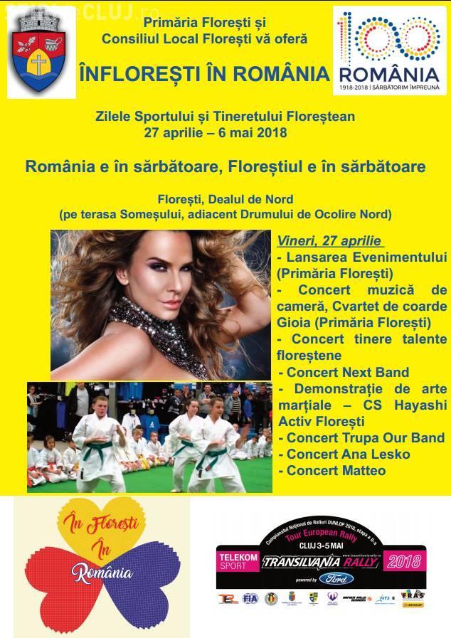 Zilele Sportului și Tineretului Floreștean în 27 aprilie - 6 mai. CE CONCERTE VOR AVEA LOC