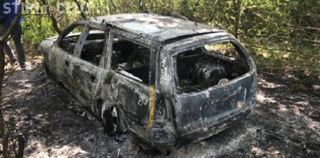 Imagini cu mașina incendiată după accidentul mortal de pe Corneliu Coposu - FOTO