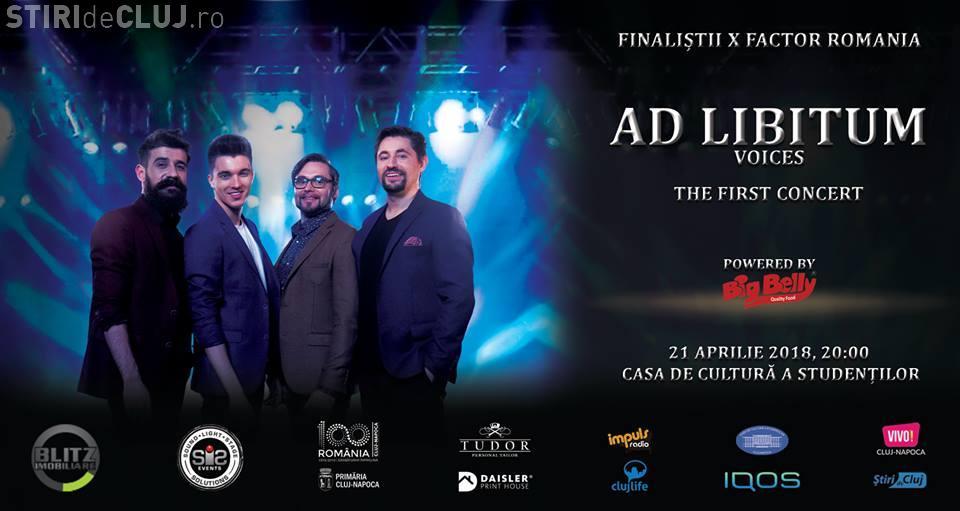 Grupul pop-opera Ad Libitum, concert în premieră la Cluj, în 21 aprilie