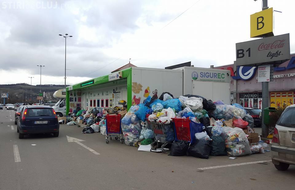 Reciclare de VIS la Cluj! Oamenii colectează selectiv, dar nu au unde să lase pungile - FOTO